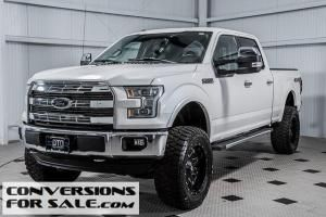 Lifted White 2015 Ford F150 Lariat Crew Lifted Ford Trucks Lifted Ford Ford Trucks For Sale