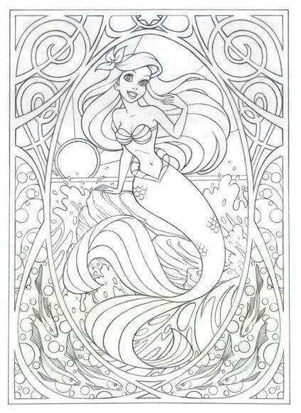 Pin by Sarah James on Coloring Pages | Pinterest | Ariel mermaid ...