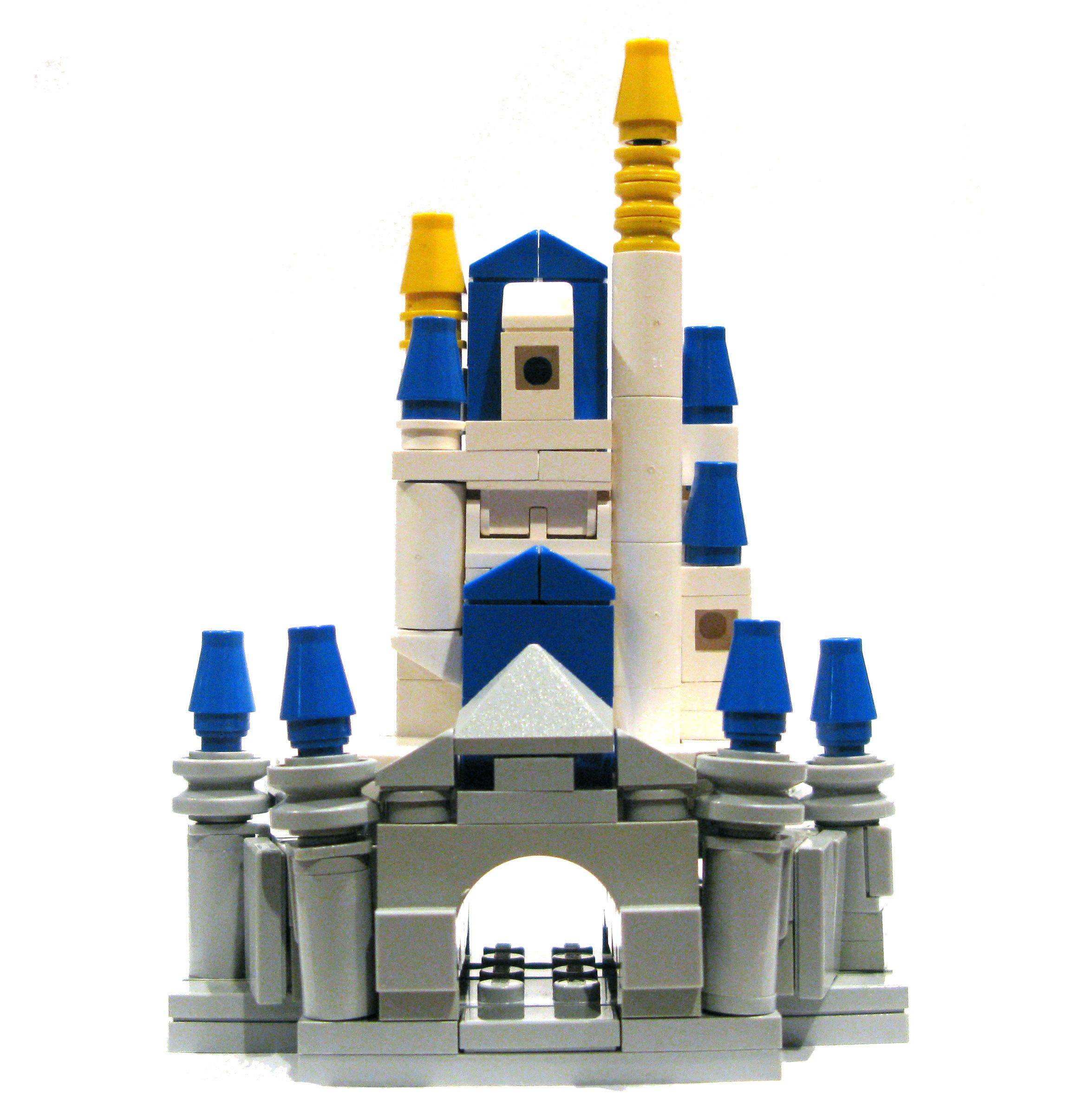LEGO Micro-Scale Cinderella Castle MOC   LEGO! LEGO! LEGO ...