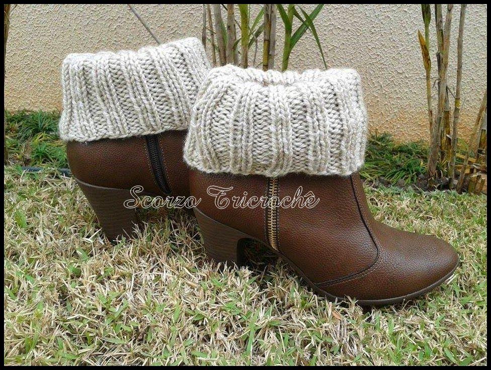 Boot cuffs - Polaina/Punho para botas com receita 2 em 1