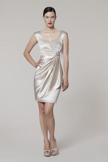 a7addfbc997 Maggy London Sarong Skirt Satin Dress