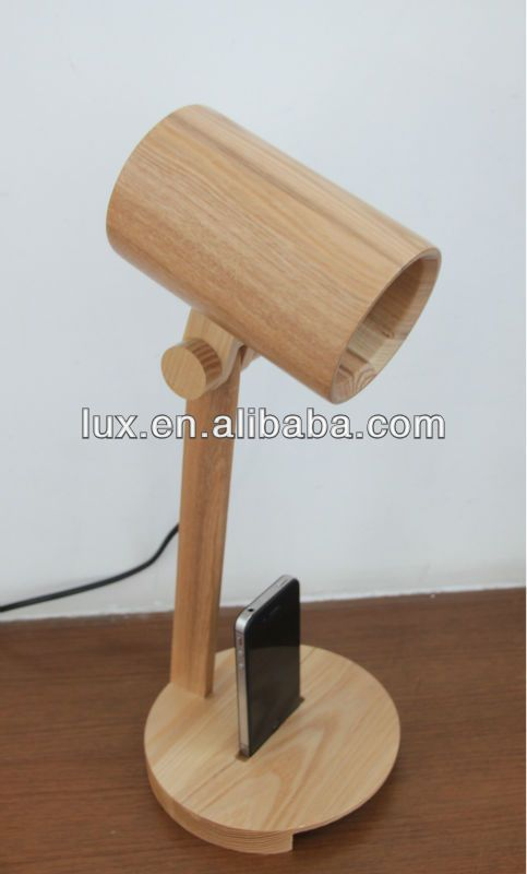Modern Wooden Table Lamp 10 30 Luminaria De Madeira Abajur De