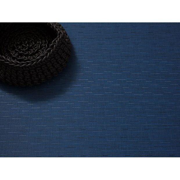 Chilewich Bamboo Floor Mat Lapis Blue Vinyl Floor Mat