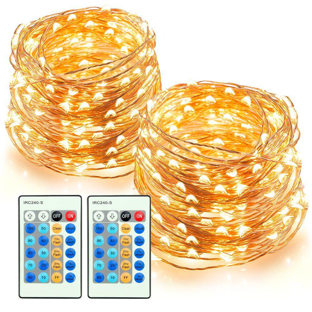 LED String Lights 66ft 200 LEDs TaoTronics Dimmable Festival ...