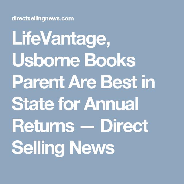 Lifevantage, Usborne Books Parent Are Best In State For -4465
