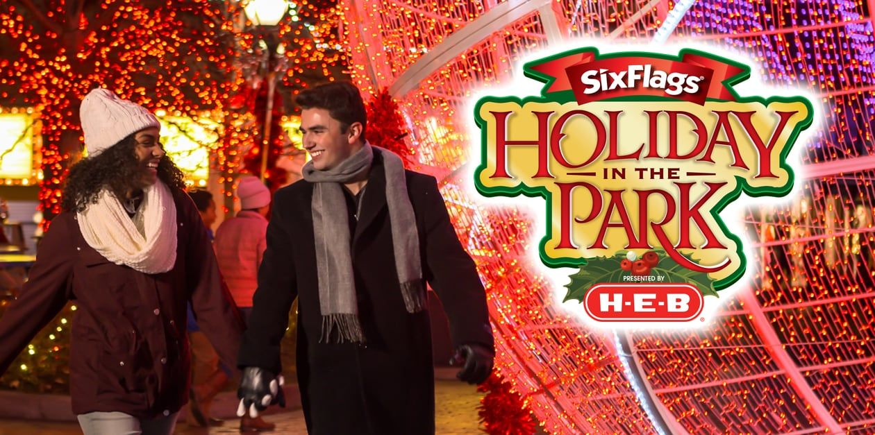 Six Flags Fiesta Texas Will Host Holiday In The Park Presented By H E B On November 17 January 6 It S The Most Wonde Six Flags Fiesta Texas H E B Holiday