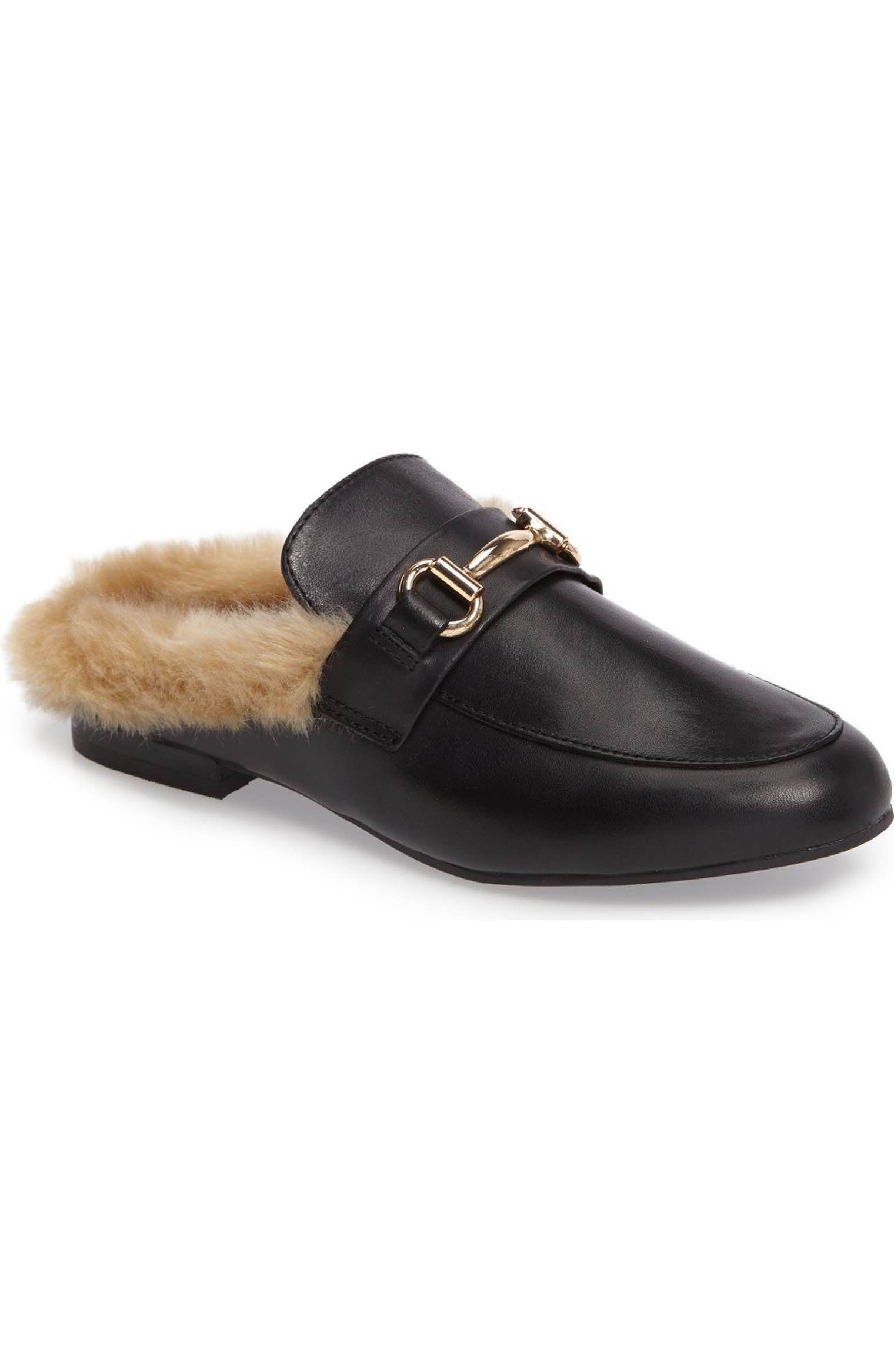 cc19020f3ba Steve Madden Jill Faux Fur Backless Loafer