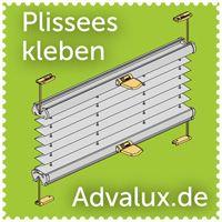 Advalux: Plissee Rollo Markise und Licht aus Berlin: Plissee ohne Bohren - eine billige Alternative der Plissee Montage mit Klebeträger. Berlin montiert Plissees ohne Kleben.