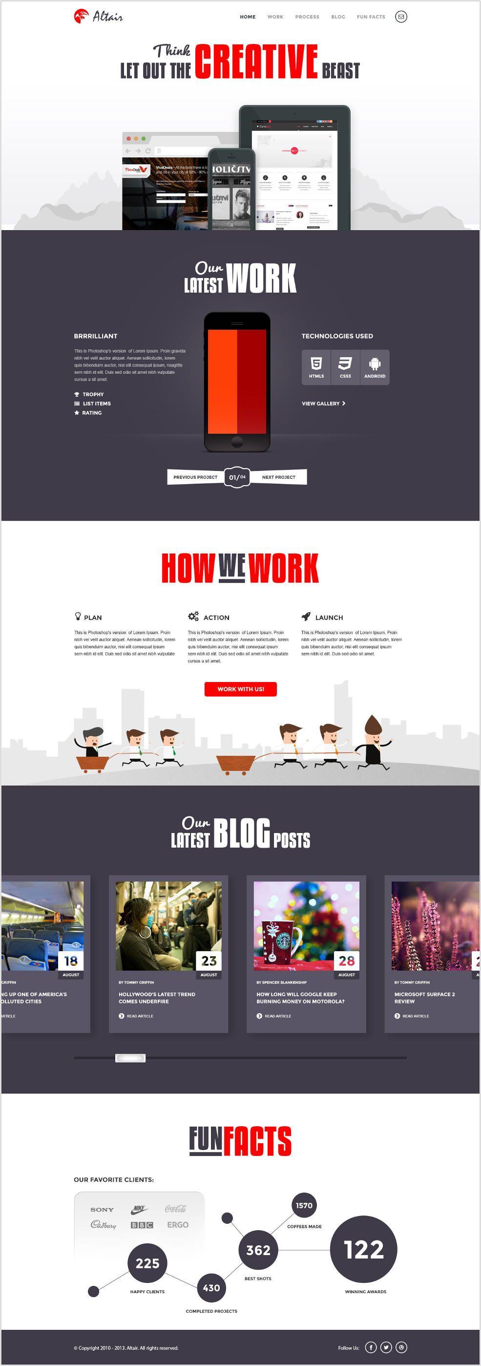 10 freie Photoshop (PSD) Website Templates » Frisch Inspiriert | Plantas