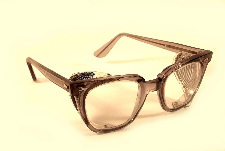 Norton safety glasses z87 steampunk broken shield grey