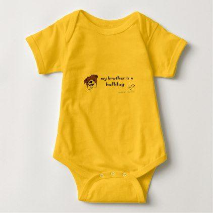 bulldog baby bodysuit - baby gifts child new born gift idea diy cyo special unique design