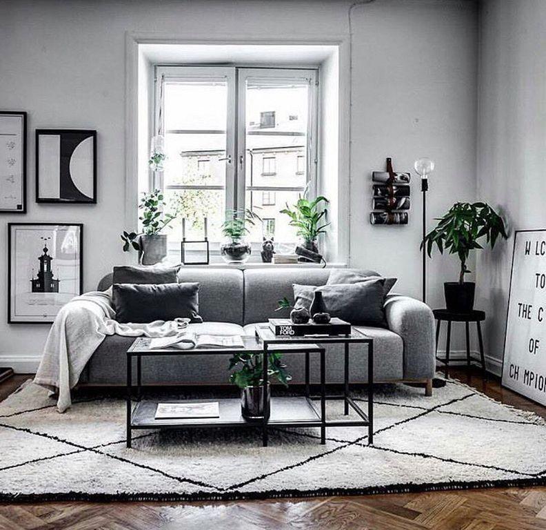 98 Modern Gray Living Room Design Ideas For Apartment Grey