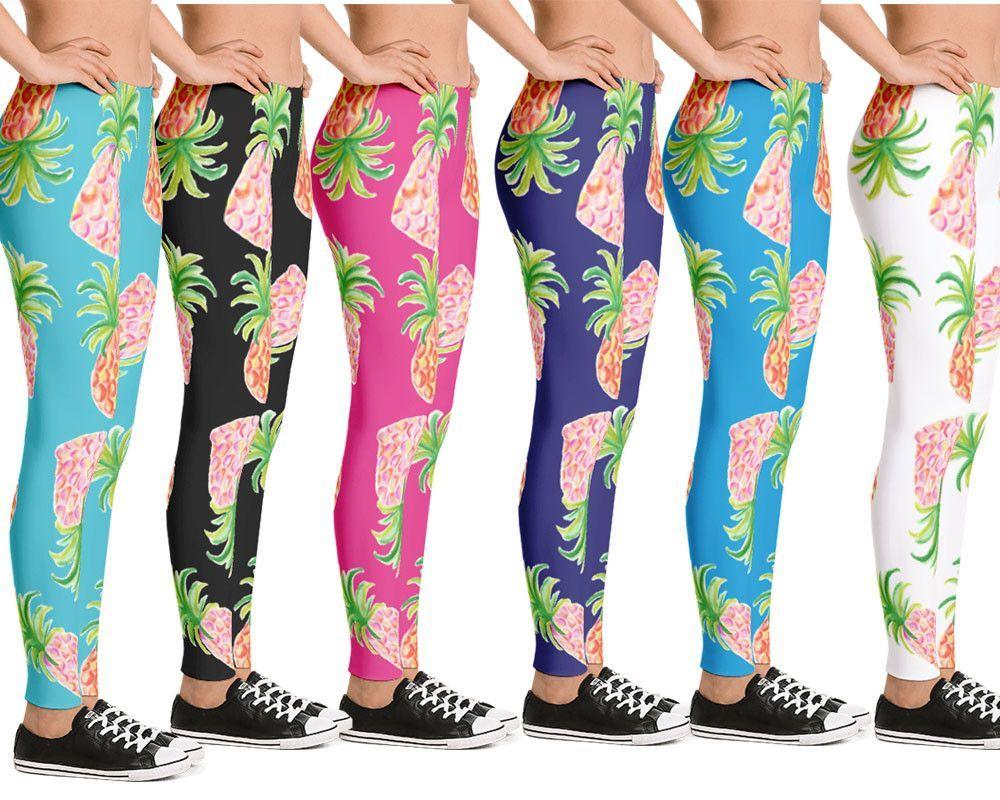 edc19920b462b Designer leggings for women designer leggings with exclusive pineapple  pattern on various background options. The
