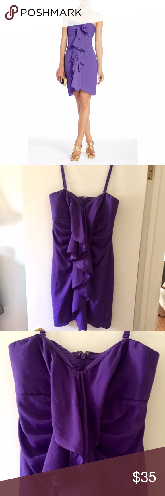BCBG Max Azria \'Gina\' Purple Cocktail Dress Size 4 | Pinterest