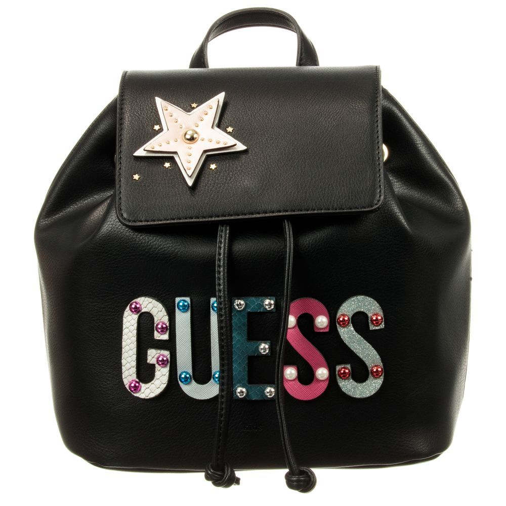 480f2599b2b6 Girls Black Backpack (28cm) for Girl by Guess. Discover more beautiful designer  Bags for kids online