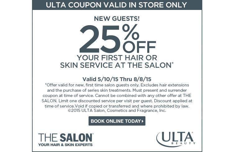 coupons for ulta beauty salon