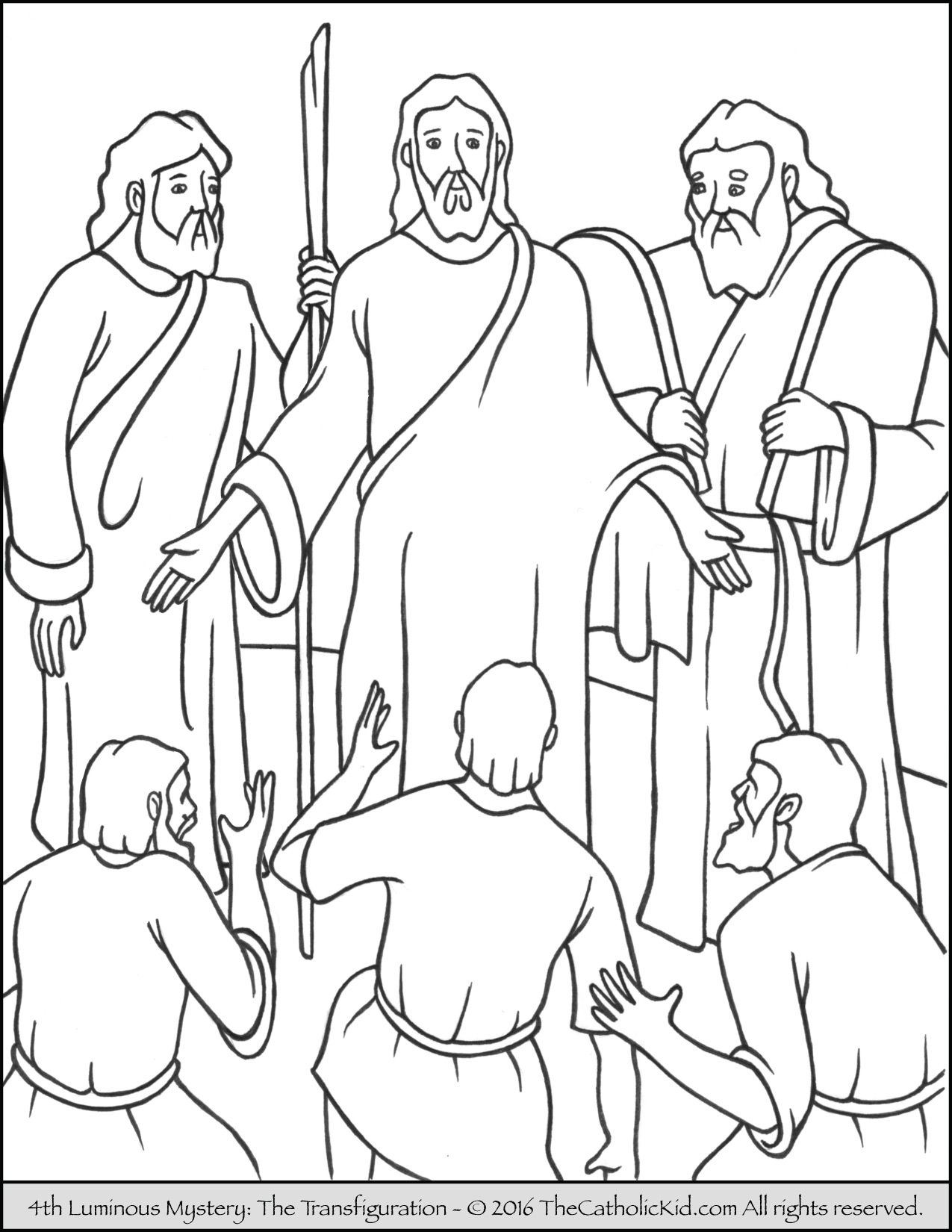 The 4th Luminous Mystery Coloring Page – The Transfiguration ...