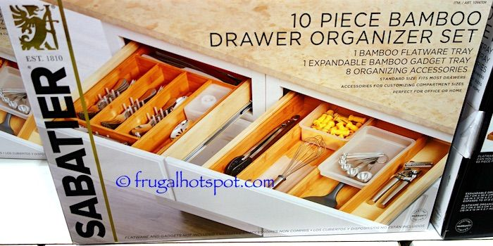 Costco Sabatier 10 Pc Bamboo Drawer Organizer Set 19 99 Is