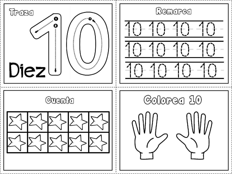 Grafomotricidad números del 1 al 10   Maths, Pre school and Worksheets