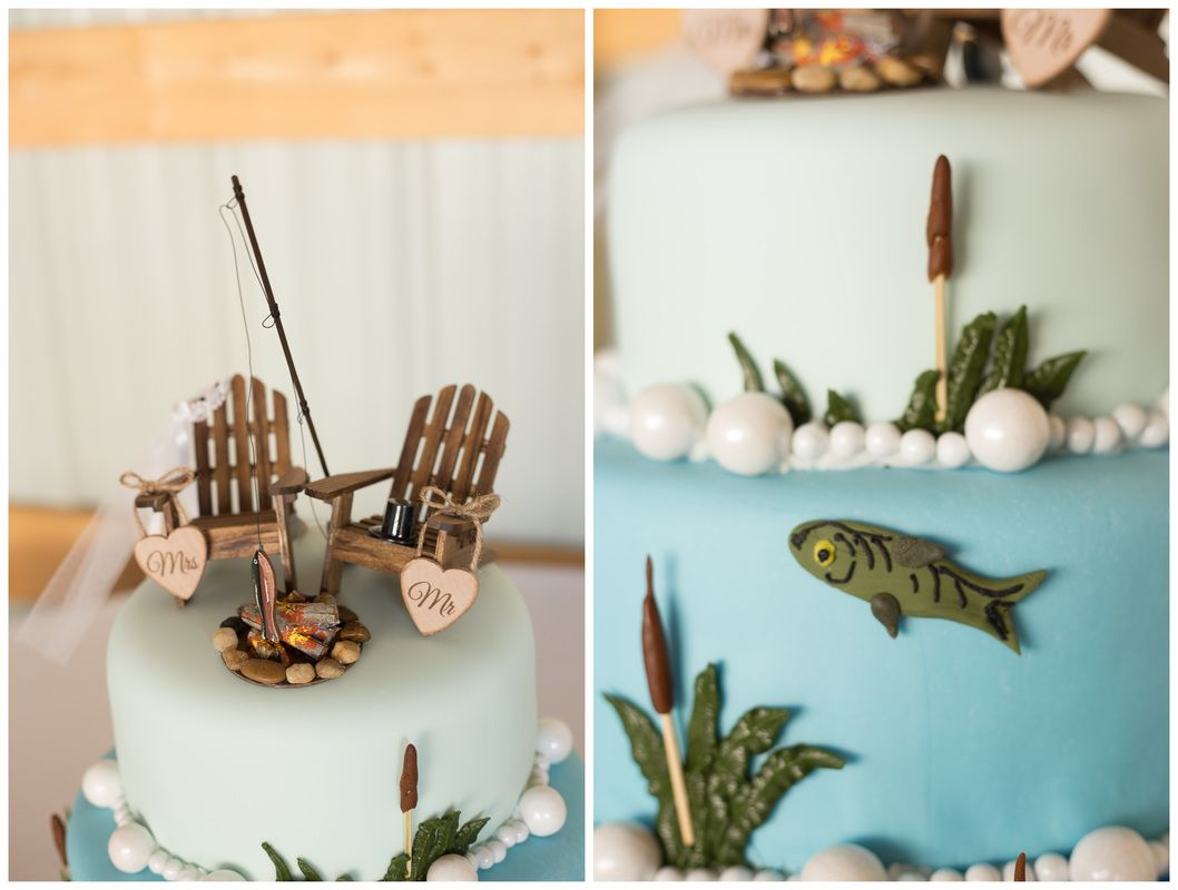 Fish Themed Wedding Cake Two Less Fish In The Sea Floyd