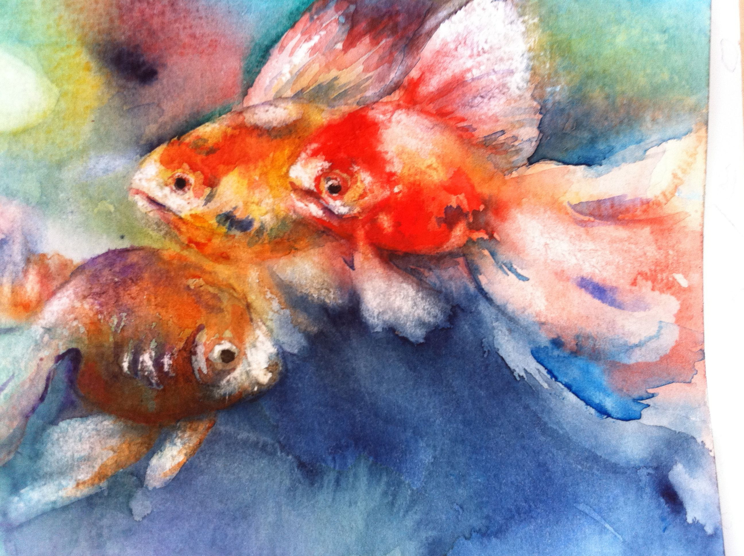 Epingle Sur Fonds Marins Aquarelle