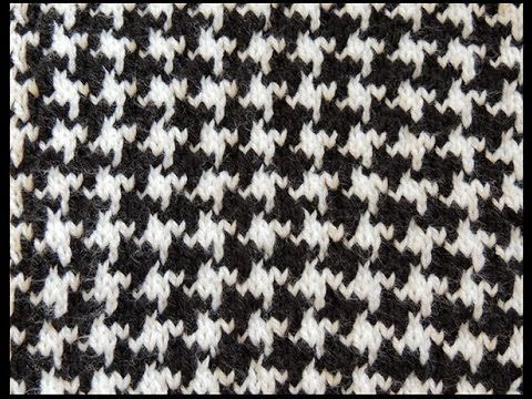 Dos agujas pied de poulet youtube tutoriales dos agujas tunisian crochet houndstooth pattern for houdstooth coat dt1010fo
