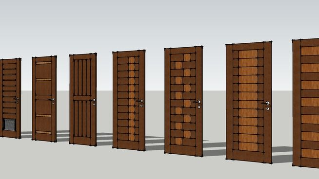 modern Doors - 3D Warehouse | SketchUp in 2019 | Modern door