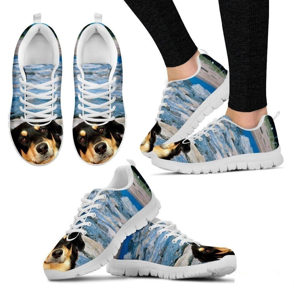 Dog or cat print sneakers with your pets Breed. All Breeds