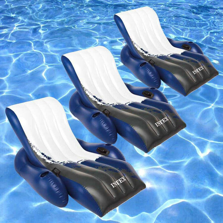 Floating recliner inflatable lounge for swimming pools 3