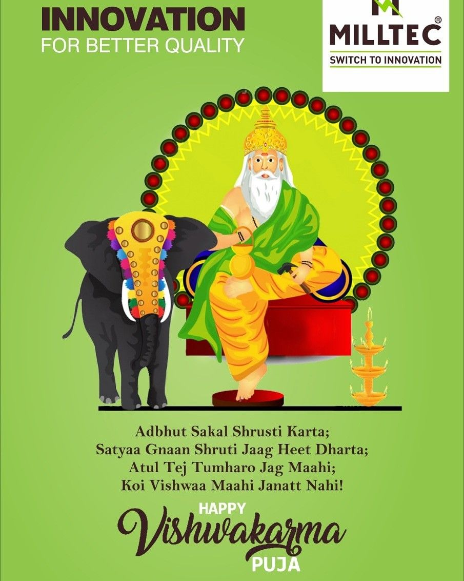 Milltec Wishes All Happy Vishwakarma Puja Switches Happy Wish