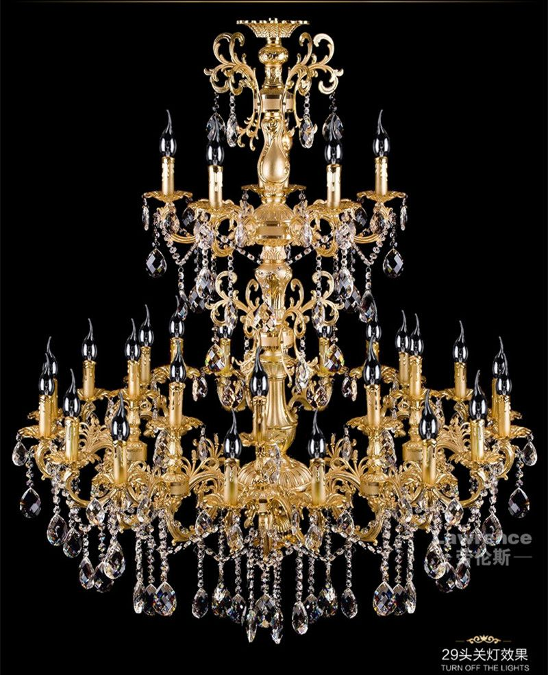 29 arm church led candle holder lighting antique gold chandelier 29 arm church led candle holder lighting antique gold chandelier crystal sconce hotel project large arubaitofo Image collections