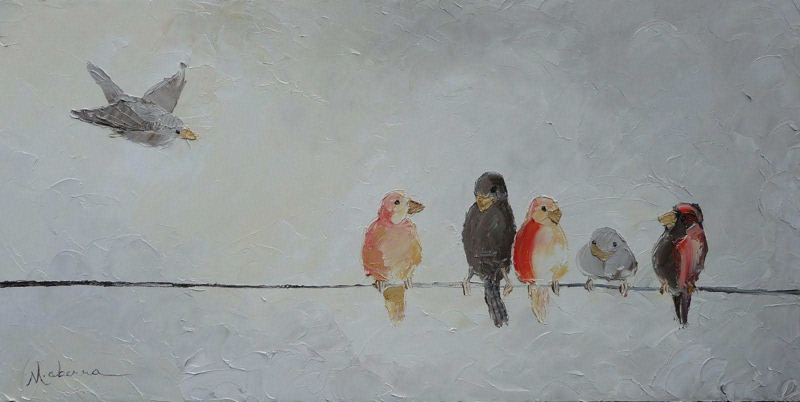 bird+on+wire+paintings | Mandie Aberra\'s Blog: Birds on a Wire ...