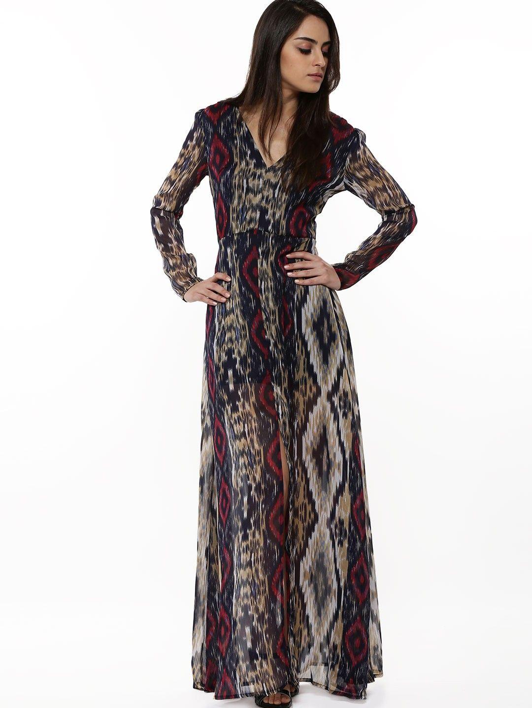 Buy RENA LOVE Ikat Print Maxi Dress For Women - Women's Multi Maxi ...