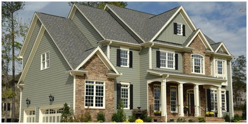 Homes With Vinyl Shingle Siding And Brick Google Search House Paint Exterior House Exterior Green House Exterior