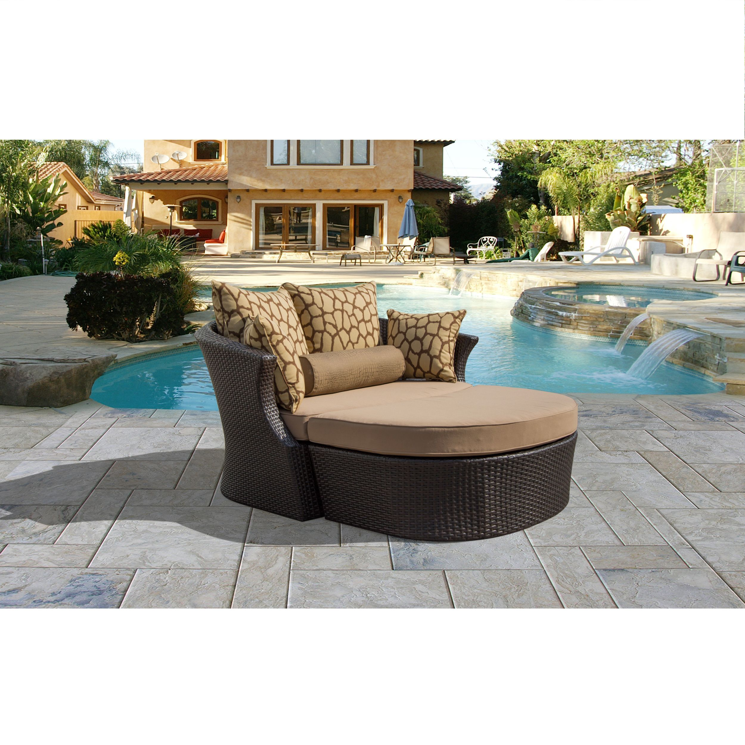 Corvus Shotiva Outdoor Furniture 2 piece Daybed with Sunbrella