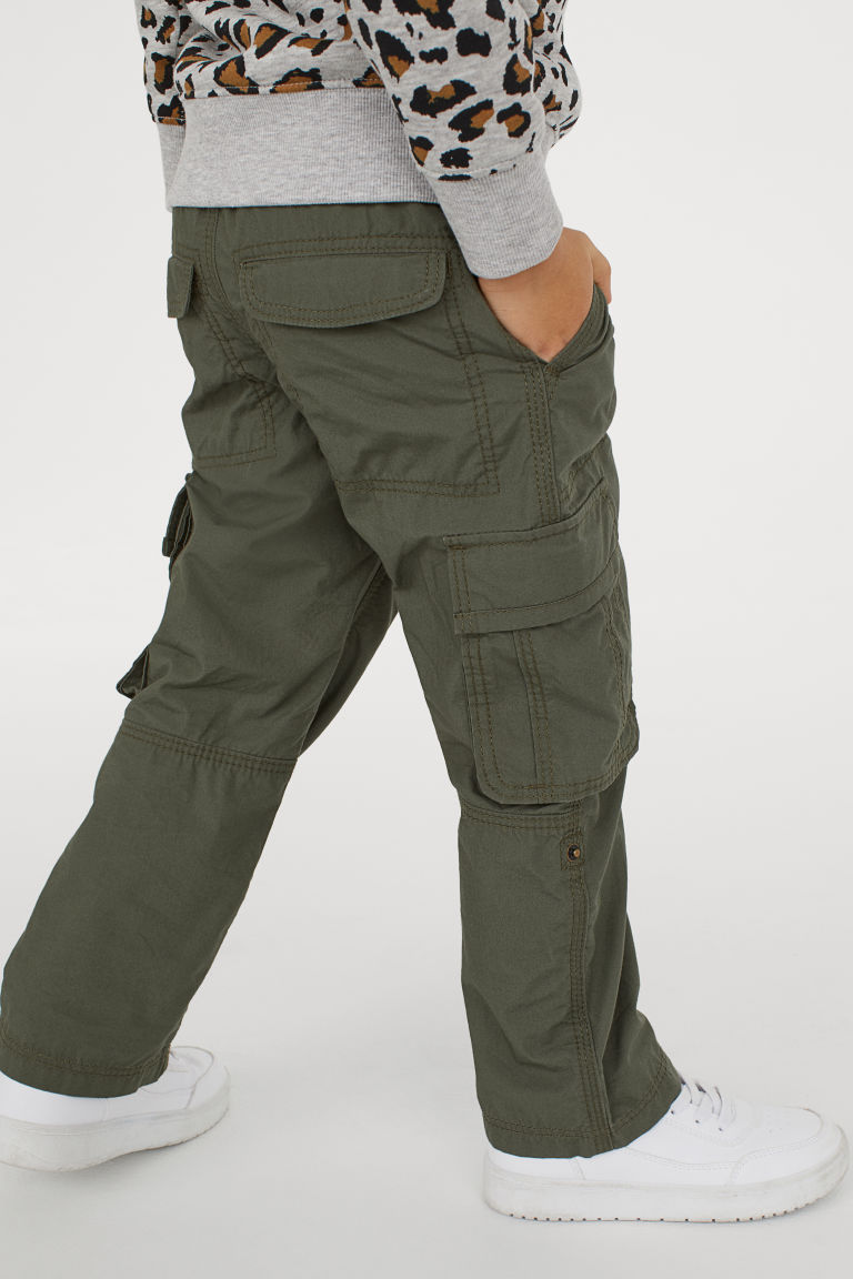 Cargo Pants Khaki Green Kids H M Us Cargo Pants Cargo Trousers Pants