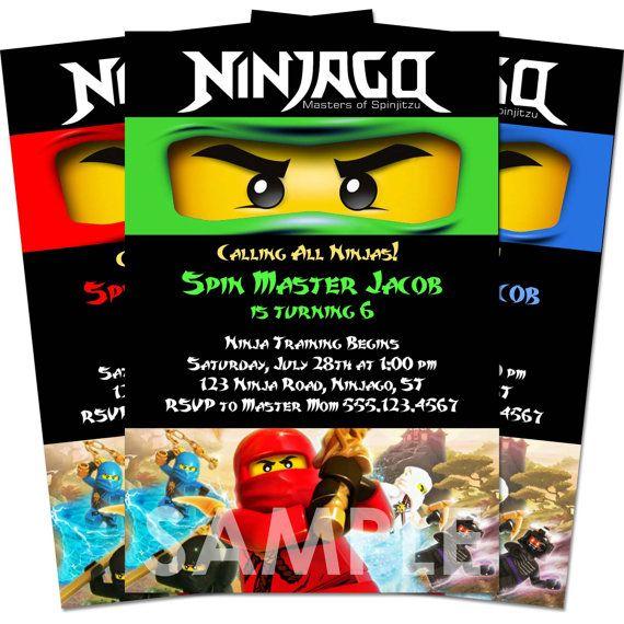 Pin By Shari Bass On Quentins 6th Ninjago Party Ninjago Birthday Printable Birthday Invitations Ninjago Birthday Party