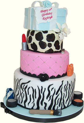 Girls Funky 21st Birthday Cake Novelty Nottingham Derby Uk