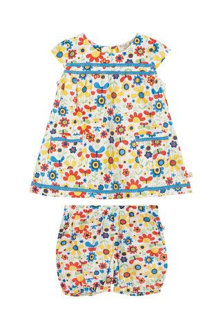 8901386ca Frugi Baby Playsuit Set Natural Garden Ditsy - Dandy Lions Boutique ...