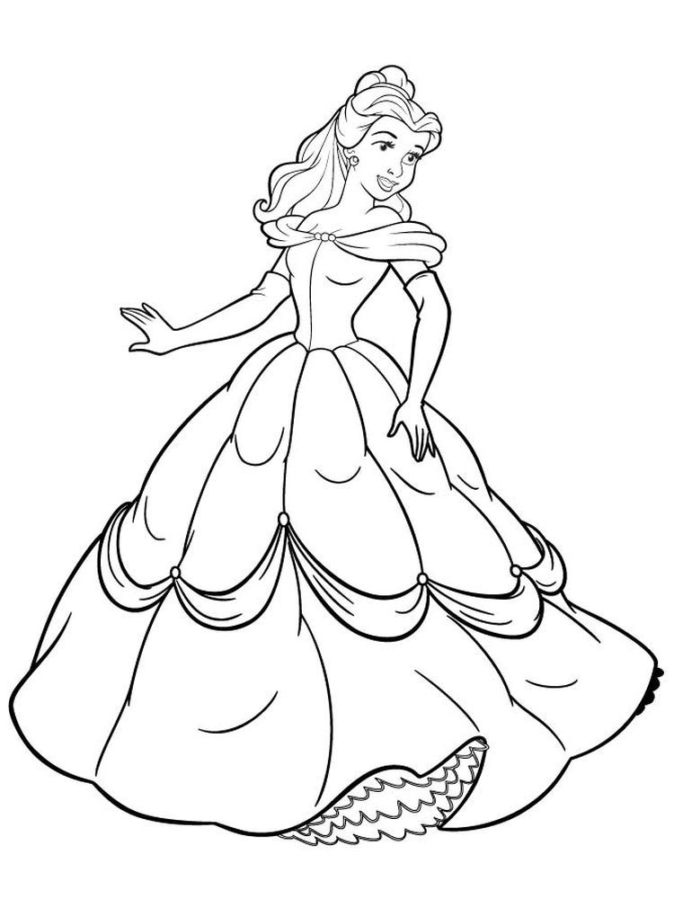 Belle Colouring In Page Pdf Below Is A Collection Of Beautiful Belle Coloring Page Which Y Belle Coloring Pages Cartoon Coloring Pages Coloring Pages To Print