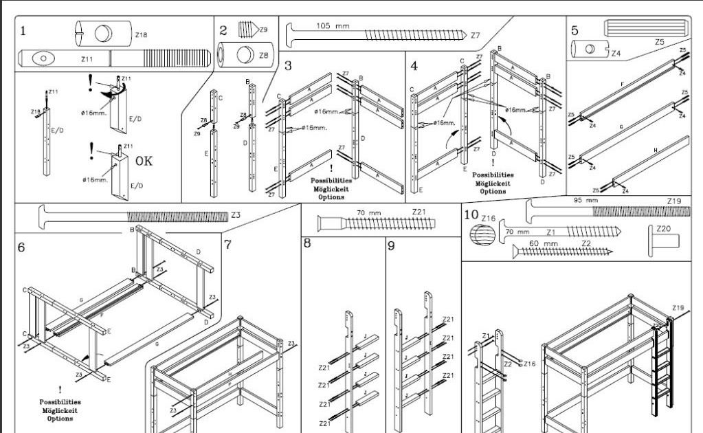Ikea Flat Pack Furniture Assembly Instructions in 2020