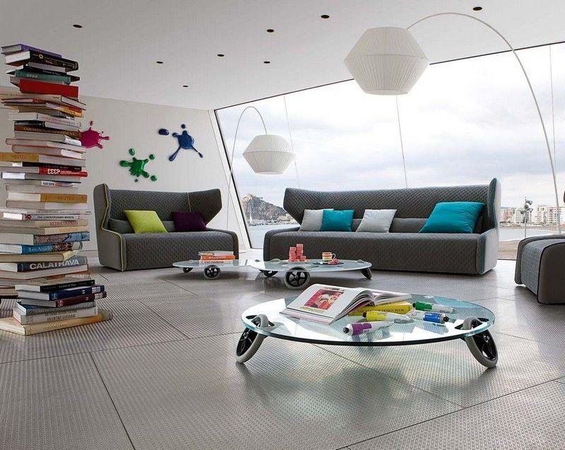 Sofa in Grau \u2013 50 Wohnzimmer mit Designer Couch Wohnzimmer Designs - teppich wohnzimmer grau