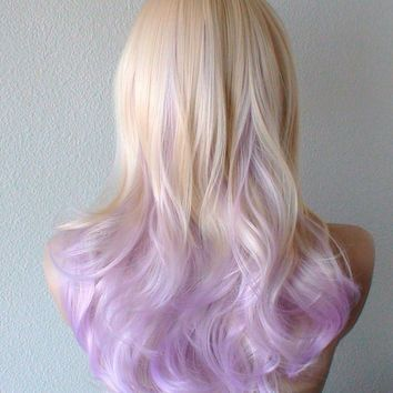 Shop Pastel Ombre Wig On Wanelo Purple Blonde Hair Dipped Hair Hair