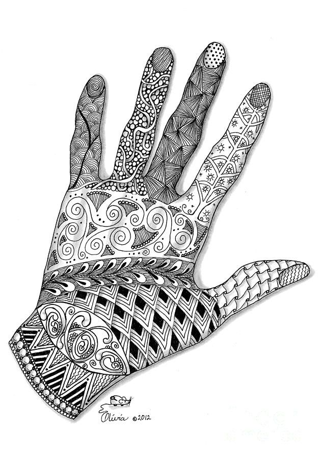 The Artist's Hand Drawing by Olivia H Keirstead - The Artist's Hand Fine Art Prints and Posters for Sale