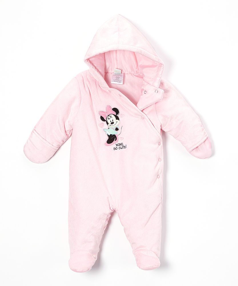 e94d128e3 NWT Baby Girl Disney Pink  So Cute  Minnie Mouse Bunting Snowsuit ...