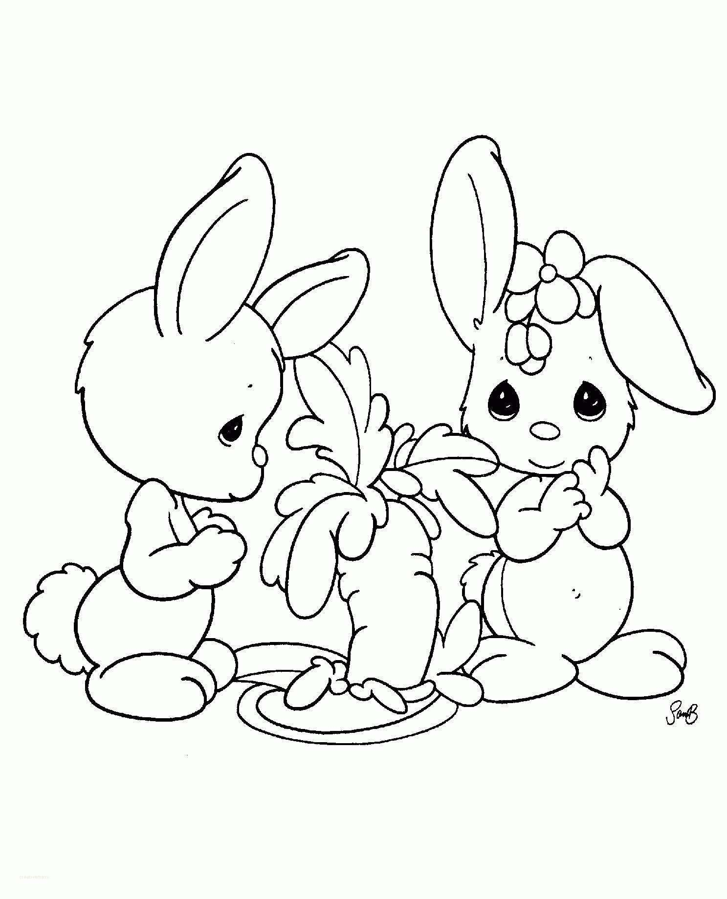 Awesome 15 Cute Easter Bunny Coloring Pages Printable Precious