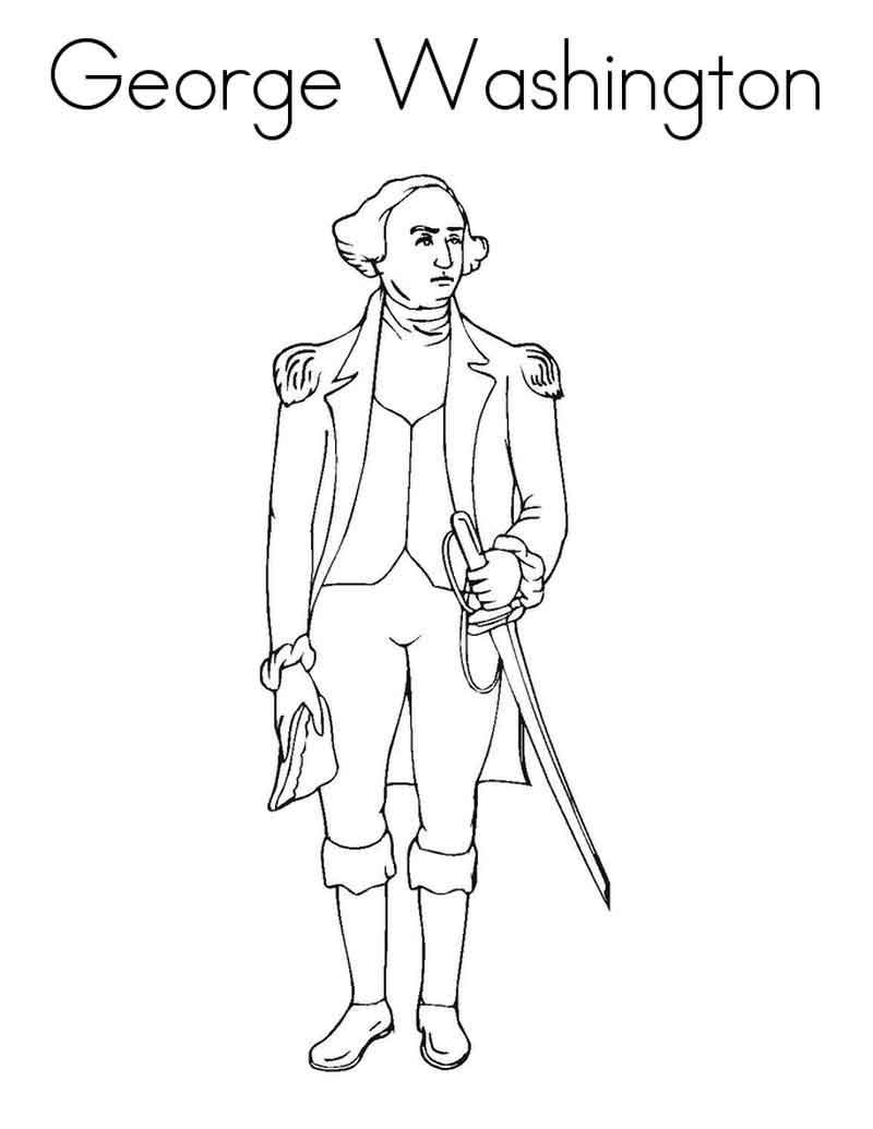 - George Washington Coloring Sheets