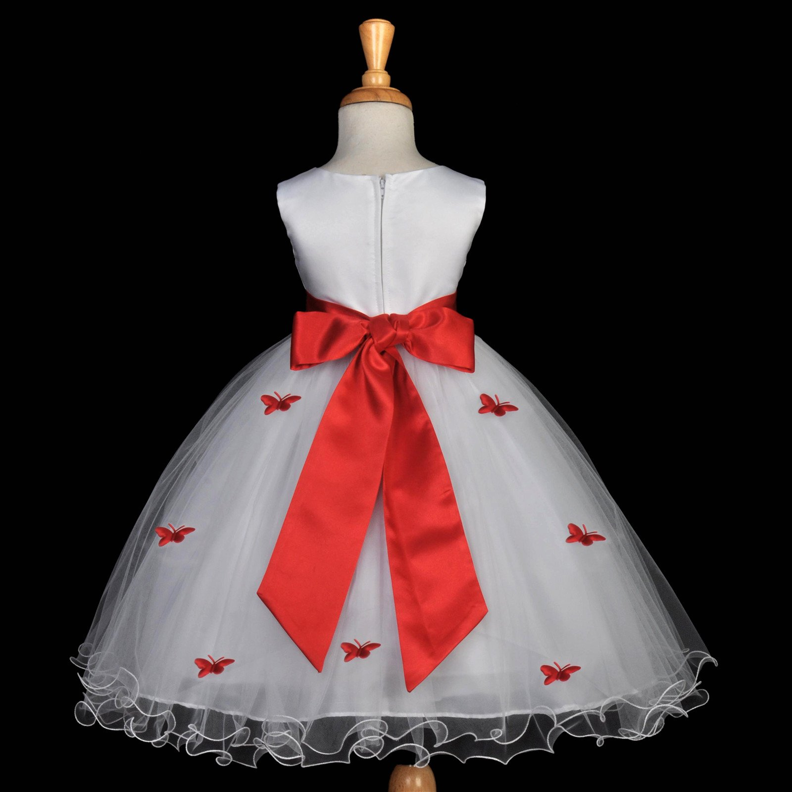 Butterflies tulle flower girl dress pageant wedding special