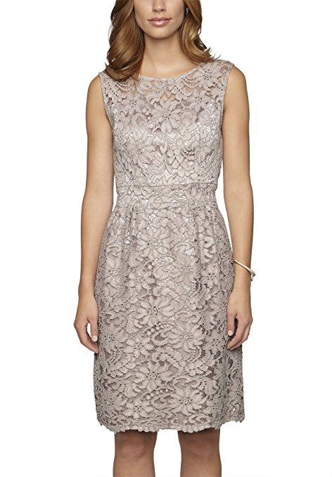 Cocktailkleid knielang taupe