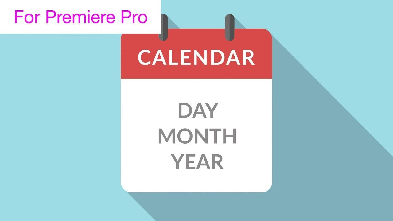 Calendar Page Turns Motion Graphics Template Motion Graphics - Premiere pro motion graphics templates